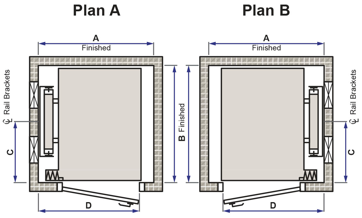Home elevator dimensions - Options