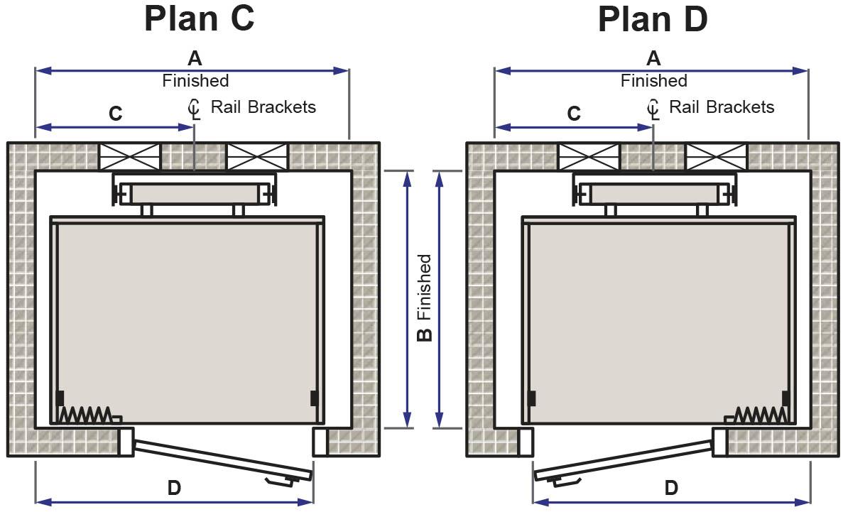 Residential elevator delaware elevator for Elevator plan drawing